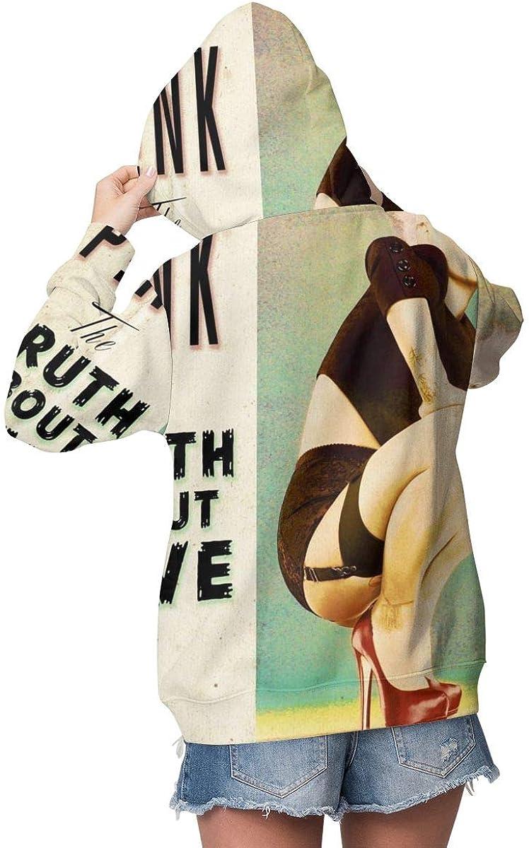 KennethDubreuil Womens P!nk Pocket Long Sleeve Casual Hoodie
