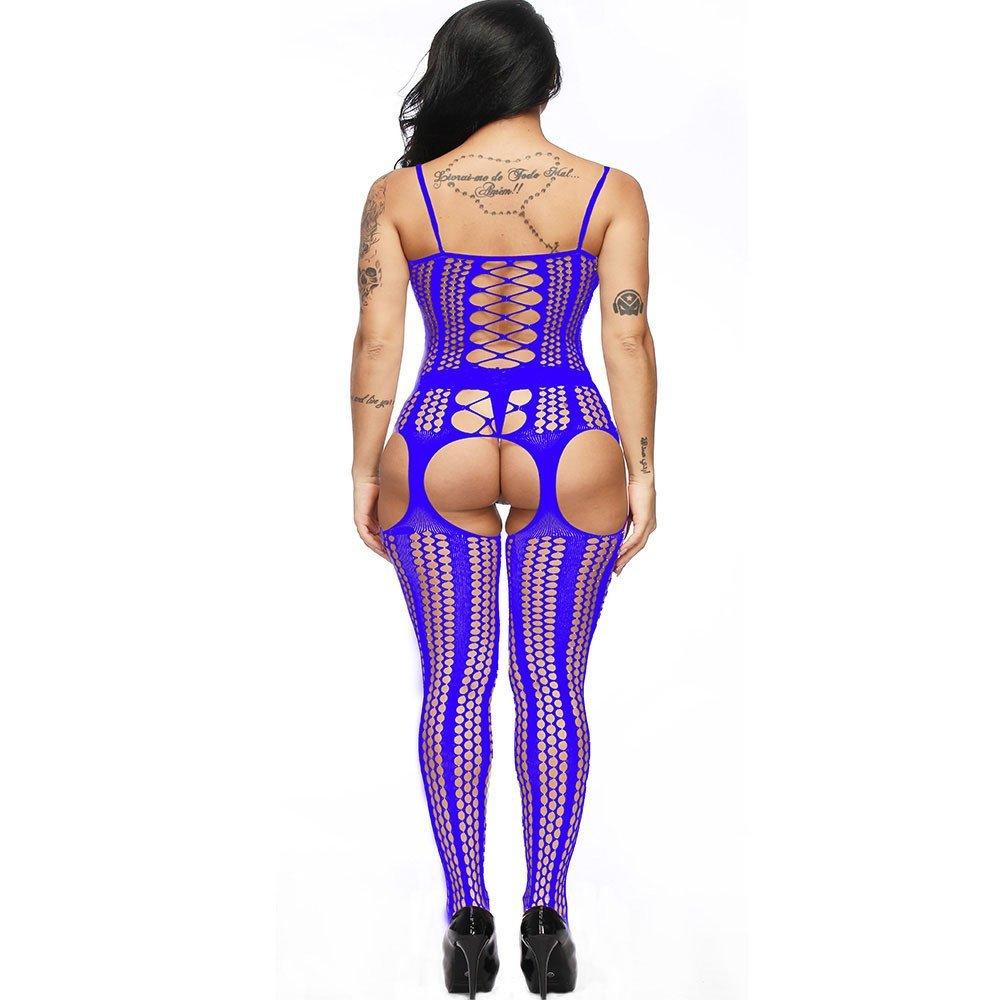 Modaworld _Lencería Mujer Erotica Abierta Bodystockings de Entrepierna Abierta Pijama Ropa Interior de Perspectiva Chemise Babydoll Bodys Picardias señoras: ...