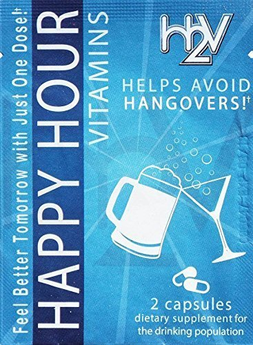 Happy Hour Vitamins Multivitamin Formulated Supplement Capsules  for Hangover & Liver Support - 20 Pack