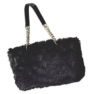 c390a2e05295 (ノーブランド品) バッグ ファー ファーバッグ レディース ハンドバッグ トートバッグ 鞄 カバン 大きめ