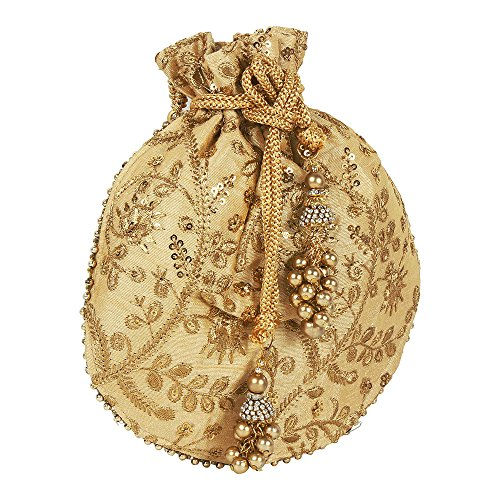 Collection Colured Womens Indian Purse Golden For Polti Embroidery Purse Light Bridal g6Hq6RC