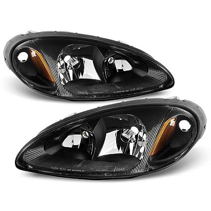 Amazon.com: ACANII - For 2001-2005 Chrysler PT Cruiser Black Headlights Headlamps Head Lights Lamp Replacement Driver+Passenger Side: Automotive