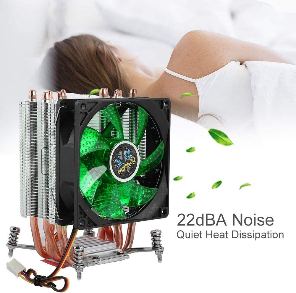 ASHATA CPU Cooler 6 Heat Pipe 3 Line Screw Single Fan CPU Radiator for LAN Shuo Green+ Large Screws for 2011. 2200 RPM Rapid CPU Low Power Consumption with Screw