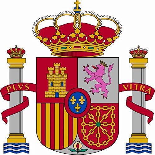 Auto Aufkleber Spanien Wappen Sticker Konturgeschnitten Ca 11x11 Cm Auto