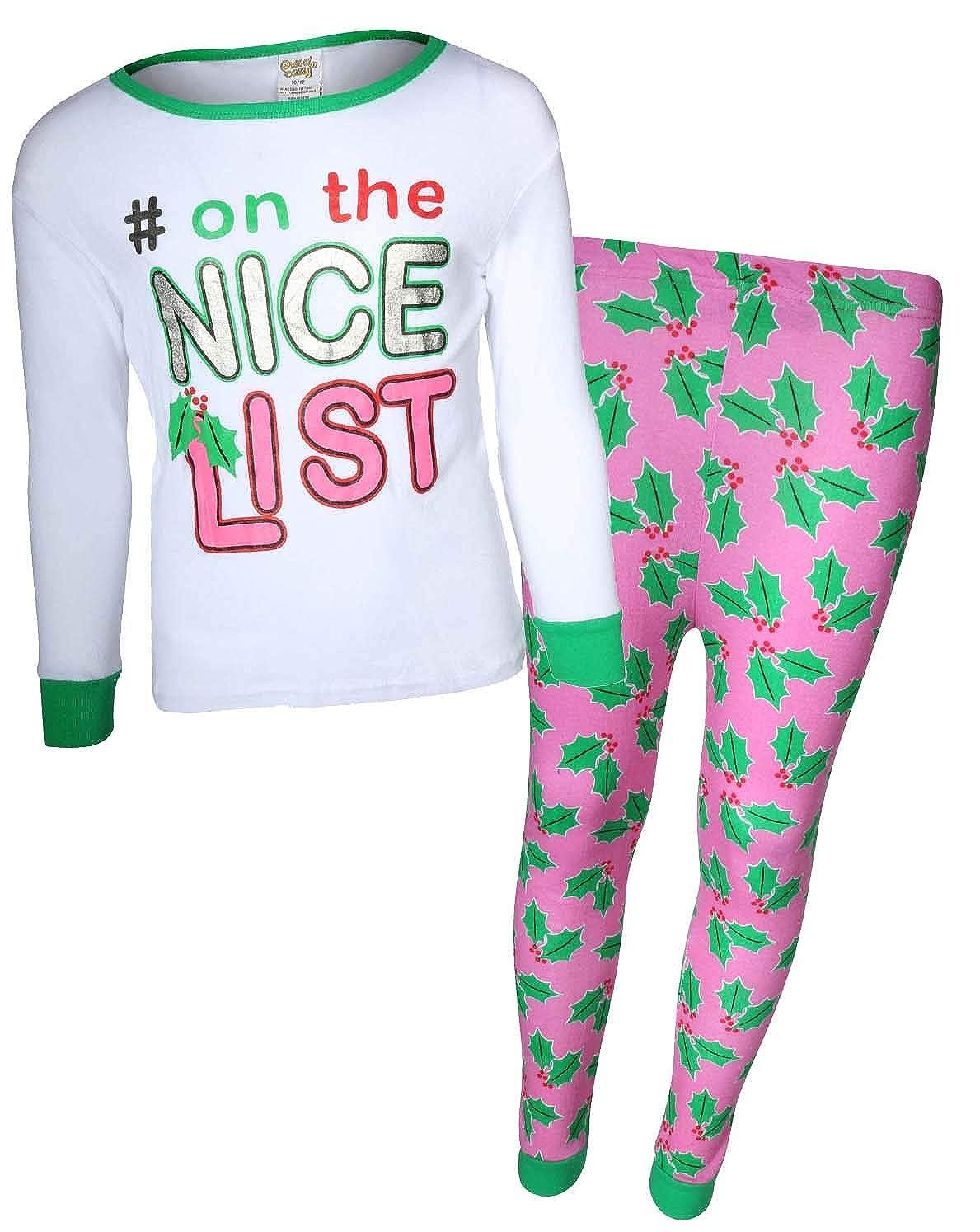Amazon.com  Sweet   Sassy Girls 2-Piece Snug Fit Christmas Pajama Set   Clothing 01039a28b
