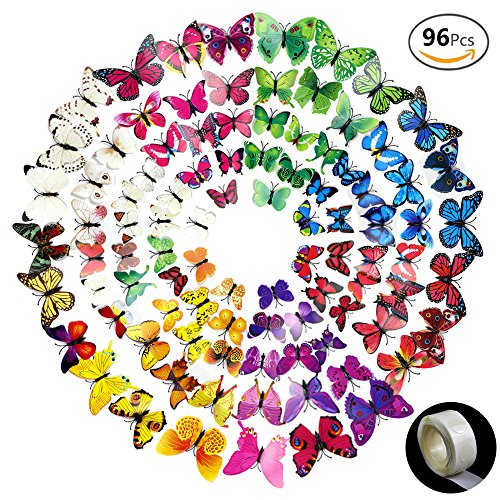 JUSLIN Butterfly Removable Stickers Decoration