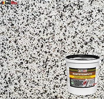 25kg Absolute ProfiQualit/ät Quarzgrund 4 kg Buntsteinputz Mosaikputz BP80 rotbraun, schwarz