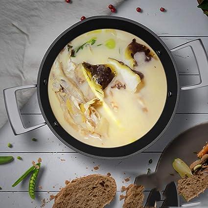 Woks Ollas para Pasta Olla de Sopa Olla de Avena Olla de Sopa de nutrientes Olla de Leche Caliente del hogar Olla de Fideos instantáneos Olla de Carne ...