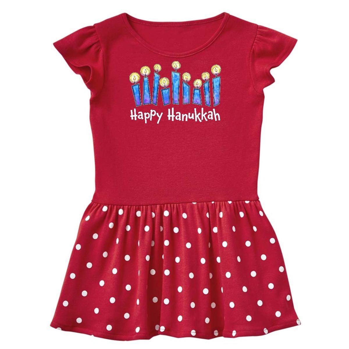 inktastic - Happy Hanukkah lit Candles Toddler Dress 14-186499-198