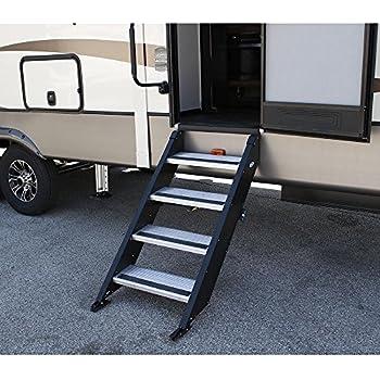 Rv motorhome camper trailer 24 quad step 27 for Motorized rv entry steps