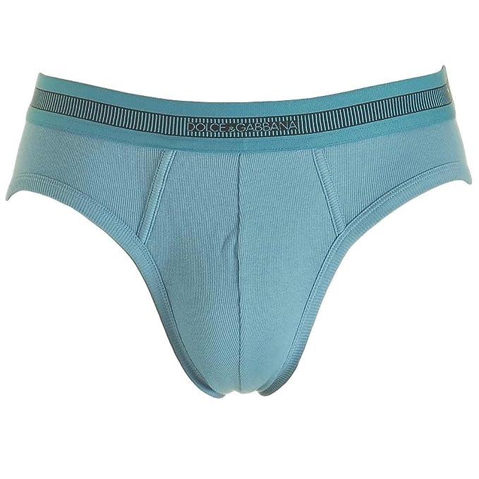 Dolce & Gabbana - Slips - para Hombre Azul Dark Light Blue Large: Amazon.es: Ropa y accesorios