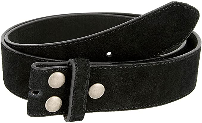 BBBelts Men 1-1//2 Black Italian Genuine Leather Distressed Snap On Buckle Belt