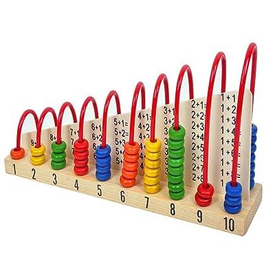 abaco de nino - TOOGOO(R)Juguete de abaco de madera para ninos que cuenta granos juguete educativo de aprendizaje de matematicas: Juguetes y juegos