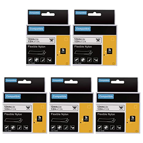 White 7 Pieces Various Sizes Labels DYMO 1 x Label Writer Starter Pack