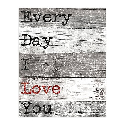 Pied Piper Creative 16-Inch x 20-Inch Every Day Love Canvas Wall Art by Pied Piper Creative