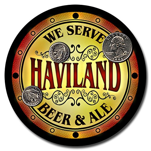 Haviland Coasters (Haviland Family Name Beer and Ale Rubber Drink Coasters - Set of)