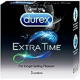 Durex Condoms, Extra Time - 3 Count