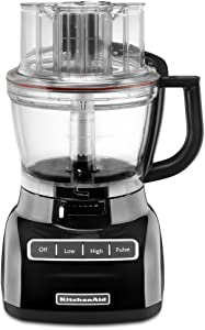 KitchenAid KFP1333WH 13-Cup Food Processor with ExactSlice System - White (Renewed)