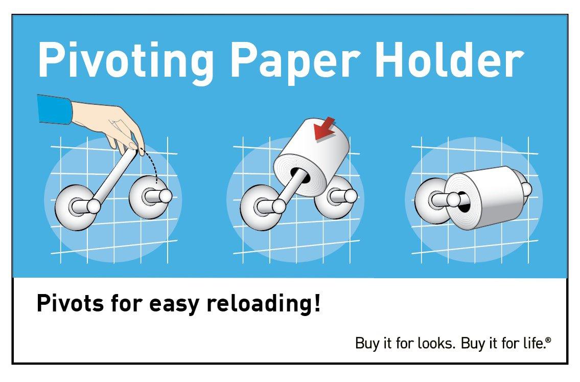 Moen YB9808CH Waterhill Paper Holder, Chrome by Moen