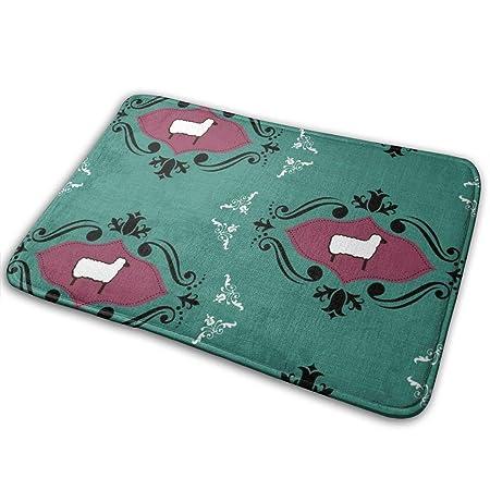 Ye Hua Sheep-eezy_556 Lavadora Blanca para alfombras de baño con ...