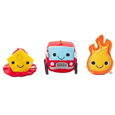 Hallmark Happy Go Luckys Firehouse Mini Stuffed Animals, Set of 3 Classic Stuffed Animals Occupations: Toys & Games