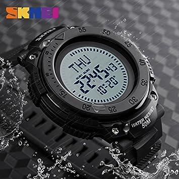 Reloj Deportivo para Hombre, con Brújula roja, Impermeable, a la Moda, Digital, Relogio Masculino: Amazon.es: Bricolaje y herramientas