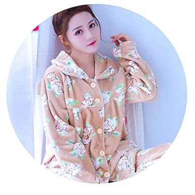 9b6043e659d1 Fresh -house Women Winter Coral Velvet Long Sleeve Female Pajama Sets Thick  Warm Sexy Pajamas