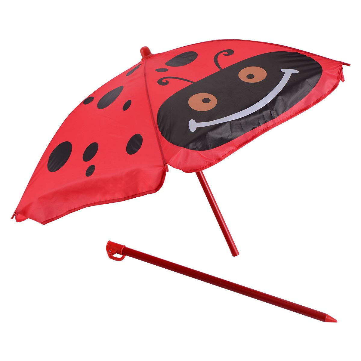 Set of 3 Red Beetle Ladybugs Pattern Kid Chair+Table+Umbrella Patio Garden Backyard Front yard Children Furniture Utility Kid room Foldable Easy Storage Light Weight Trip Party Event Picnic Home by Prettyshop4246 (Image #6)