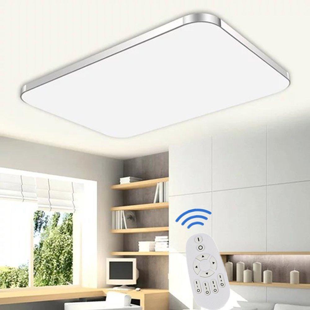 Schön SAILUN 48W Dimmbar LED Modern Deckenleuchte Deckenlampe Flur Wohnzimmer  Lampe Schlafzimmer Küche Energie Sparen Licht 85V