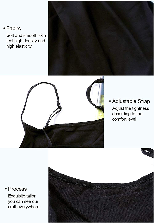 ATTRACO Womens Cotton Camisole Shelf Bra Spaghetti Straps Tank Top 2 Packs