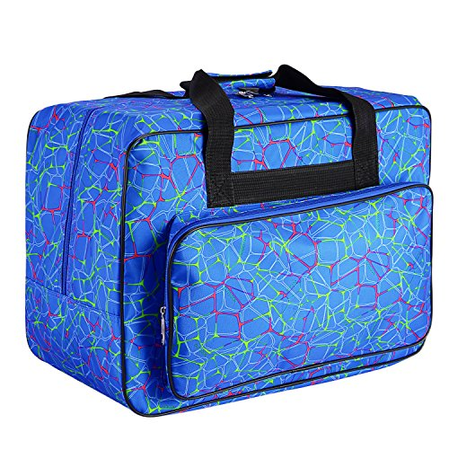 Sale!! Homdox Sewing Machine Carrying Case Tote Bag - Universal Waterproof Blue