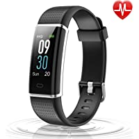 Letsfit Fitness Tracker Color Screen, IP68 Waterproof Heart Rate Monitor Activity Tracker, Pedometer Watch Sleep Monitor Step Counter Kids Women Men, Smart Phones