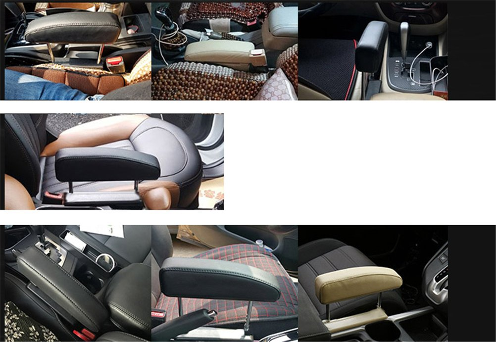 Car Armrest Rest Pads,Vehicle Truck Universal Central Elbow Support Pad for Long-Term Drivers Arm Comfort Pad,Beige