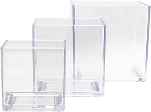 lightweight durable plastic design Acrylic Clear Vase
