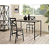 Rustic Angle Iron 48'' Wood Dining Table - Driftwood