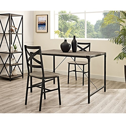 Rustic Angle Iron 48'' Wood Dining Table - Driftwood by Generic