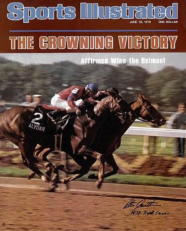 Steve Cauthen Autographed Signed Belmont Horse Racing 16X20 Photo Sports Illustrated Cover June 19, 1978 w 1978 Triple - 1978 Sports Cover Illustrated