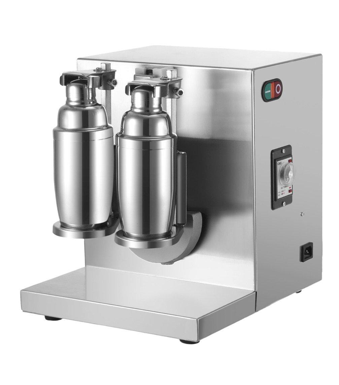 LOVSHARE 120W Milk Tea Shaker Double-cup Milk Tea Auto Shaking Machine Stainless Steel Milk Tea Making Machine