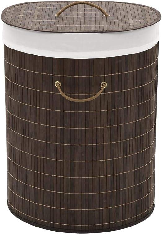 GoodWork4UEu Cesto de la Ropa de bambú Ovalado marrón oscuroCasa y jardín Productos del hogar Productos para Lavado de Ropa Cestas para Ropa: Amazon.es: Hogar
