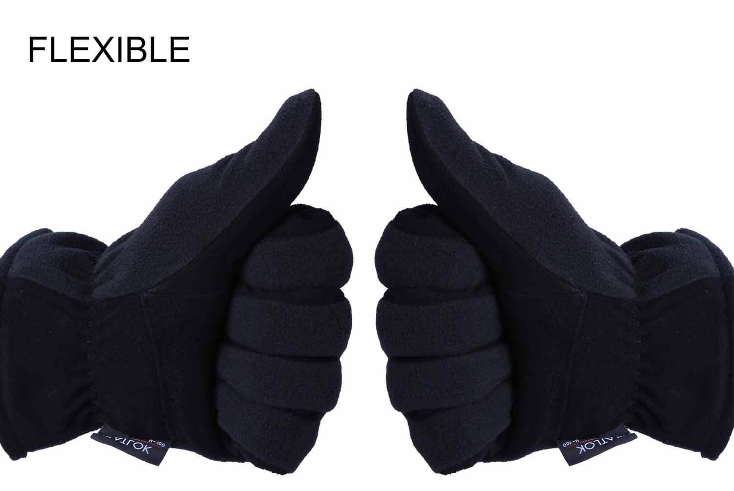OZERO Winter Gloves, -10°F(-23℃) Cold Proof Thermal Work Glove - Deerskin Suede Leather Palm and Polar Fleece Back with Heatlok Insulated Cotton - Hands Warm in Cold Weather for Women and Men