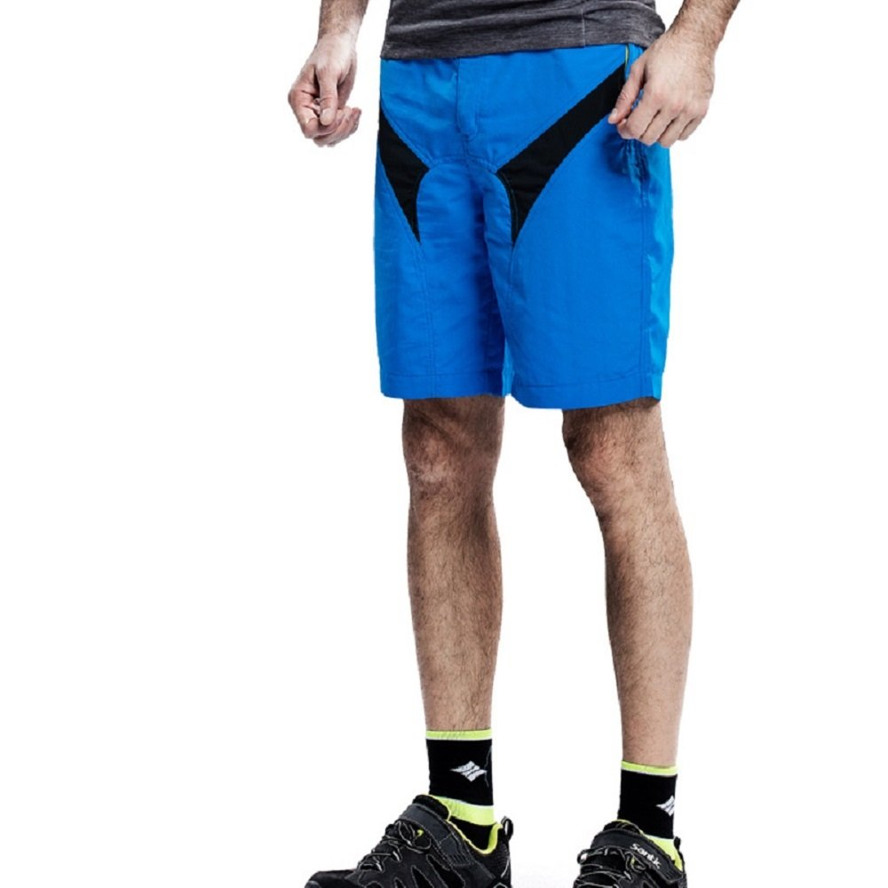 Santic Men's Cycling Shorts Removable Padded Baggy Mountain Bike Shorts Blue SANTIC(QUANZHOU) SPORTS CO. LTD.