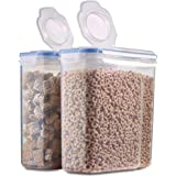 Pack of 2 - Grain & Cereal Container Sealed 4L Large Capacity, BPA Free, Easy Pouring, Use it as Cereal Box, Grain Storage, P
