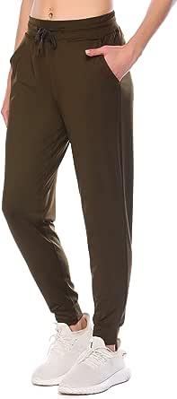 COOrun Women's Sweatpants Workout Joggers Pants Lightweight Activewear Trousers with Deep Pockets