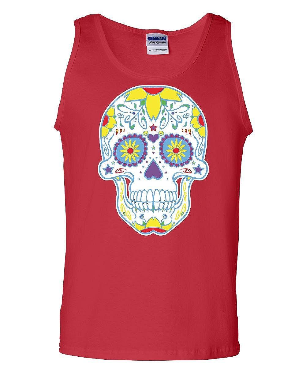Sugar Skull Day of The Dead Tank Top Calavera Dia de Los Muertos