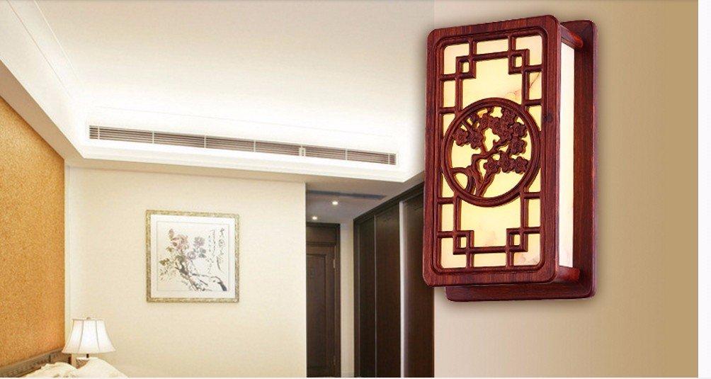 Chinesische Mauer Lampe Lampen minimalistischen Schlafzimmer Massivholz Studie Zimmer im Hotel Balkon gang Wandleuchte Lampen, 22 * 37 cm
