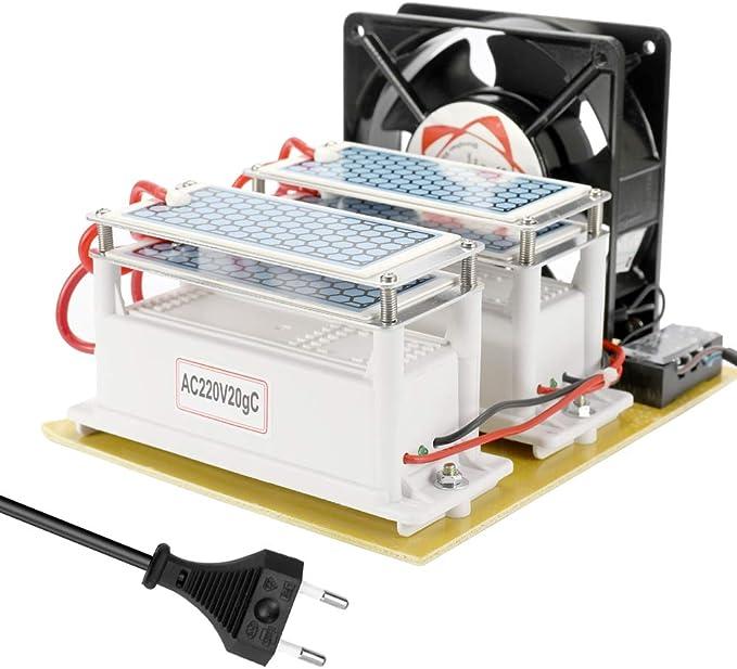 KKmoon 20g Generador de Ozono de Cerámica, Portátil Doble Integrado Larga Vida útil Placa Ozonizador Purificador: Amazon.es: Bricolaje y herramientas