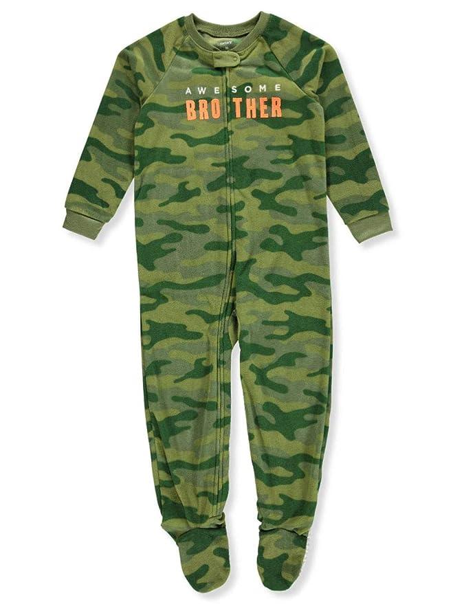 Carters - Pijama de una Pieza - para niño Amarillo y Gris 104/110 cm: Amazon.es: Ropa y accesorios