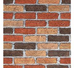 0db06010f81 JiaMeng 3D Brick Stone rústico Efecto Autoadhesivo Etiqueta de la Pared  Home Decoración del hogar Pegatinas  Amazon.es  Hogar
