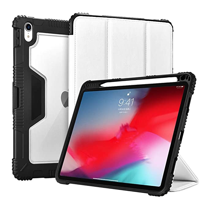 finest selection d746d bdd9c ICARERCASE iPad Pro 12.9 Rugged Case 2018, Support Pencil Charging with  Kickstand Protective Heavy Duty Case for iPad Pro 12.9 inch 2018 Release ...