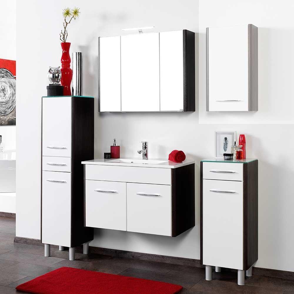 Brilliant Badezimmermöbel Günstig Beste Wahl Badmöbel Komplettset In Weiß Hochglanz Grau Braun